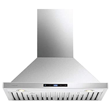 CAVALIERE 30 Range Hood Wall Mounted Stainless Steel Kitchen Vent 860 CFM