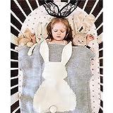 Best Newborn Baby Cribs - YEVEM Cute Cozy Baby Kids Knitted Blanket Wrap Review