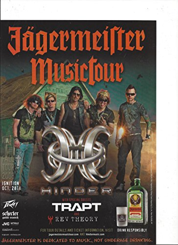 Promotional **PRINT AD** For 2008 Hinder & Trapt Concert Presented By Jagermeister