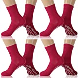 KitNSox Socks Loose Fitting, Men's Women's Stretchy Cuff Ankle High Warm Circulatory Crew Diabetic Quest Socks 4 Pairs