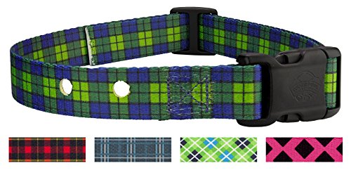Country Brook Design Blue and Green Plaid Replacement Collar for Dog Fence Receivers