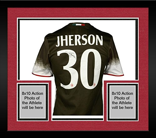 Framed Jherson Vergara AC Milan Autographed Game-Used International Champions Cup Green #31 Jersey vs Liverpool on July 30, 2016 - Fanatics Authentic Certified