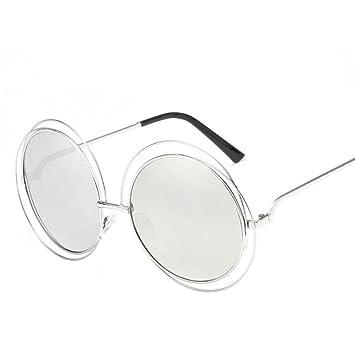 JIGHB Gafas de Sol Femeninas Gafas De Sol Redondas Mujeres ...