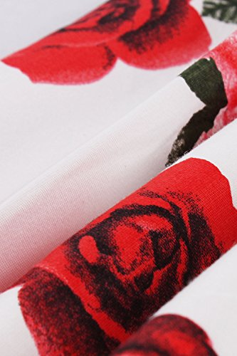 lgant Jupes Midi Nimpansa Les Dcollet pour Femmes Vintage White6 UqORSaPBR