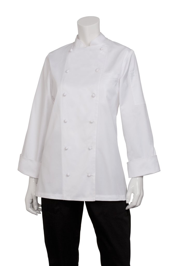 Chef Works Women's Elyse Executive Chef Coat, White, 3X-Large by Chef Works