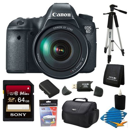 Canon EOS-6D Digital SLR Camera Kit with EF 24-105mm F3.5-5.6 IS STM Lens - Special Promotional Bundle (Special Promotional Bundle)
