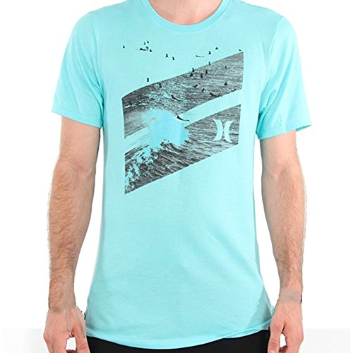 Hurley Men's Mens Icon Slash Line Up Premium Tee Shirts, Heather Aurora Green, Small ()