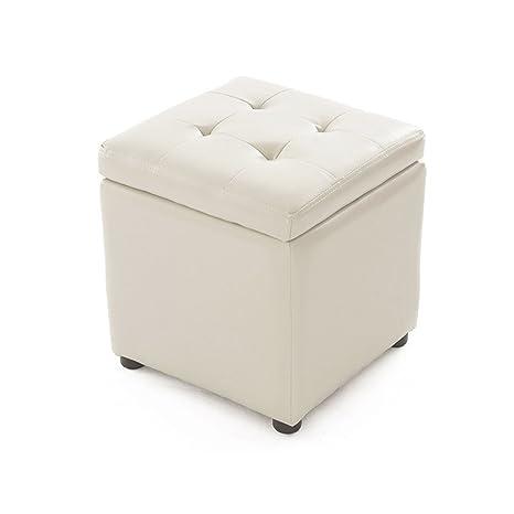 Cool Amazon Com Grjxmd Childrens Toy Storage Stool Cube White Dailytribune Chair Design For Home Dailytribuneorg