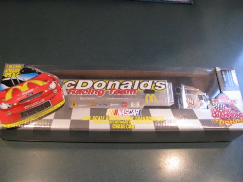 (1999 10th Anniversary Racing Champions Bill Elliott #94 Chase Edition McDonalds Hauler Trailer Rig Semi Truck Tractor Trailer Transporter 1/64 Scale Only 1499 Made Metal Cab Plastic Trailer)
