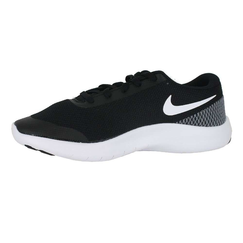 Nike Kids Flex Experience RN 7 (GS) Black White White Size 4 by Nike (Image #3)