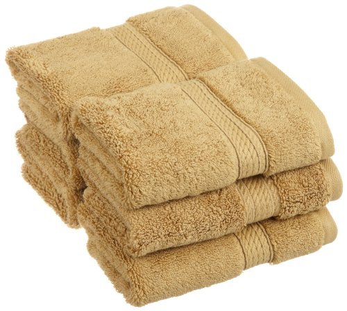 Superior 900 GSM Luxury Bathroom Face Towels, Made of 100% Premium Long-Staple Combed Cotton, Set of 6 Hotel & Spa Quality Washcloths - Toast, 13