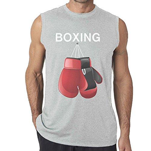 Red Boxing Gloves Mens Sleeveless Vest/Underwaist/Sleeveless Garment/Tank -