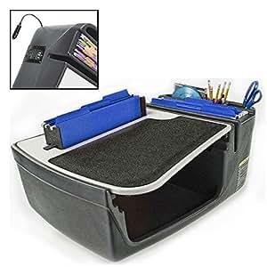 autoexec efficiency filemaster portable car seat desk with built in 200 watt. Black Bedroom Furniture Sets. Home Design Ideas