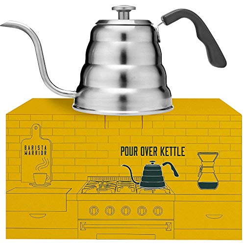 Neck Cup Kit - Pour Over Coffee Kettle with Thermometer for Exact Temperature - Gooseneck Pour Over Kettle for Drip Coffee and Tea (1.2 Liter | 40 fl oz)