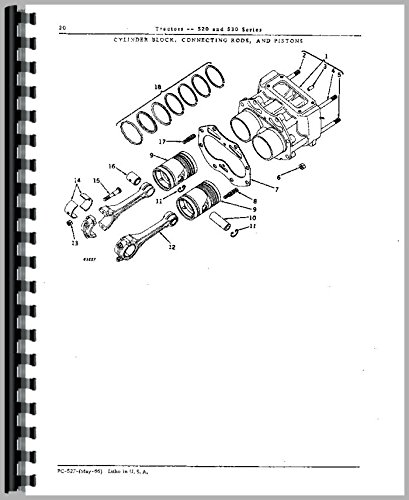 Price comparison product image John Deere 520 Tractor Parts Manual