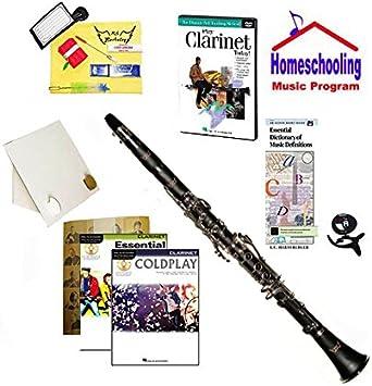 RS Berkeley Homeschool - Pack de música para clarinete principiante (juego de libros de música Coldplay Rock), incluye clarinete para estudiantes con funda, DVD, libros y elementos de aprendizaje integrales: Amazon.es: Instrumentos