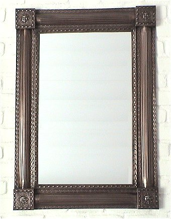 Fine Crafts Imports Punched Dark Sun Tin Mirror