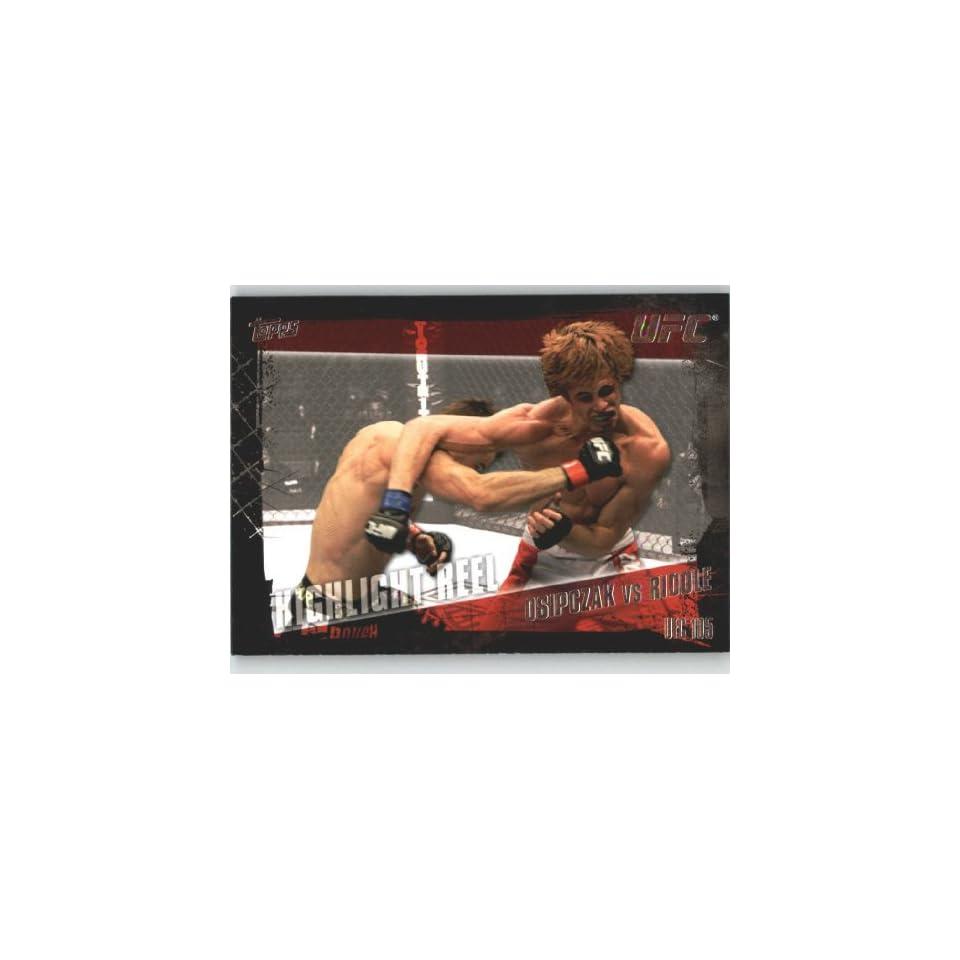 2010 Topps UFC Trading Card # 200 Nick Osipczak vs Matt