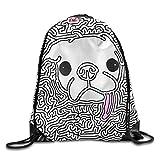 Drawstring Backpack Art Design Print Rucksack Shoulder Bags Gym Bag Hip Hop Colorful Rainbow Flag Pattern Fruit Pineapple 17''x14''