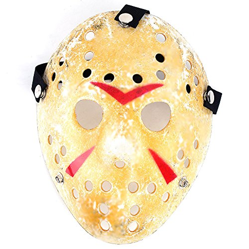 O-Best New Jason vs Friday The 13th Horror Hockey Mask Deluxe Cosplay Costume Halloween Killer Masquerade Mask Costume (Hockey Mask Halloween Costume)