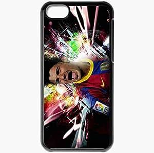 Personalized iPhone 5C Cell phone Case/Cover Skin 2013 david villa fc barcelona football Black