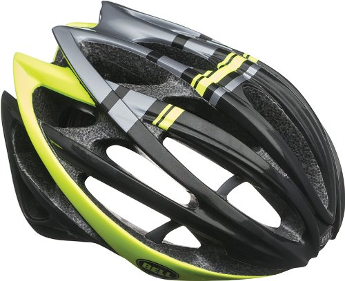 Bell Gage Bike Helmet - Black/Hi-Vis Yellow Draft ()