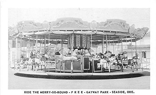 Ride the Merry Go Round, Free Gayway Park Seaside, Oregon, OR, USA Postcard Post Card