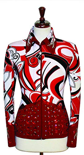 Western Pleasure Show Shirts - Medium Rodeo Western Horse Riding Show Jacket Horsemanship Pleasure Rail Outfit [52]