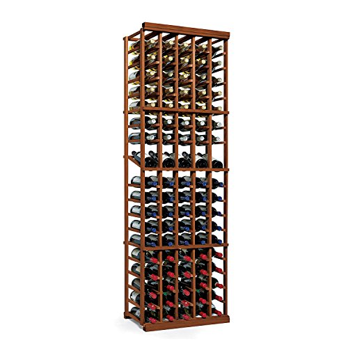 N'FINITY Wine Rack Kit - 5 Column with Display - Dark Walnut - Solid Mahogany