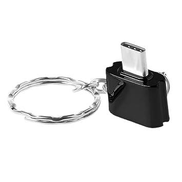 ESden - Llavero de Metal Tipo C Micro SD TF Lector de ...