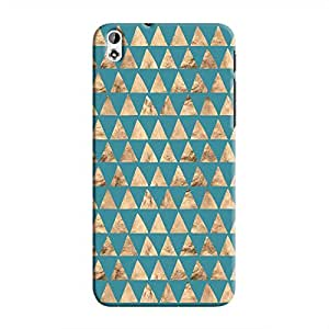 Cover It Up - Brown Blue Triangle Tile Desire 816 Hard Case