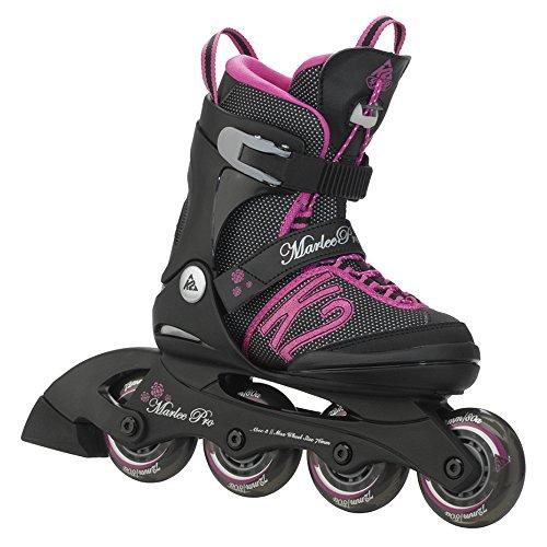 K2 Skate Girl's Marlee Pro Inline Skates, Black/Pink,  4-8
