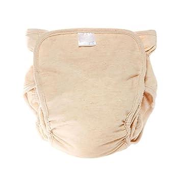 QIAN Lavables pañales para recién nacidos de tela transpirable bebé pañales de bolsillo a prueba de