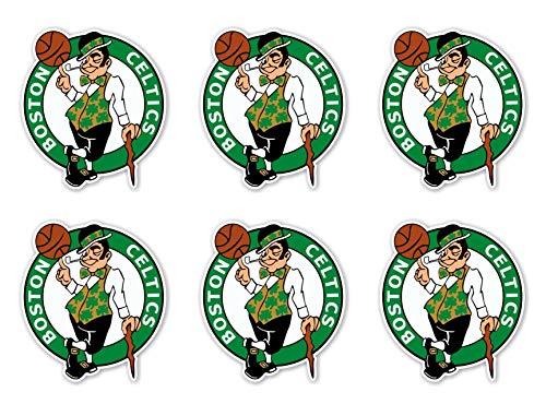 NBA Boston Celtics Stickers Set of 6 Plus 6 Mini Basketball Stickers Team Logo Leprechaun Celts