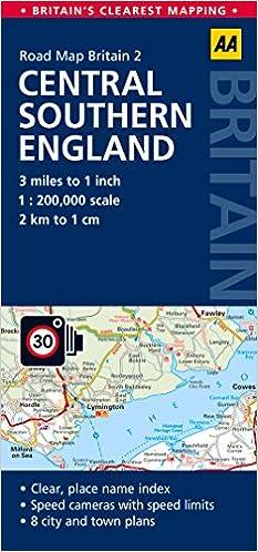 AA Road Map Britain Central Southern England: Amazon.de: Automobile ...