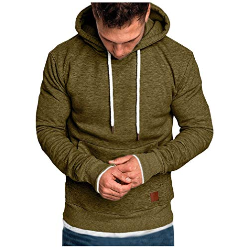 Beautyfine Sweatshirts Men's Hoodies, Tracksuits Autumn Winter Casual Tops Long-Sleeved Zipper T-Shirt Solid Hooded Blouse from Beautyfine Sweatshirts