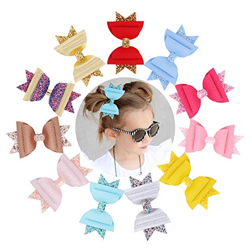 Baby Girl Hair Bows Set Floral Printting Bow Headbands Clip Alligator Hair Clips for Toddlers Kids