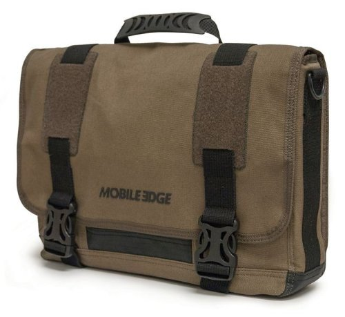 Mobile Edge Ultrabook Eco-Friendly Messenger Bag, Olive (MEUME9) (Eco Canvas Friendly Messenger)