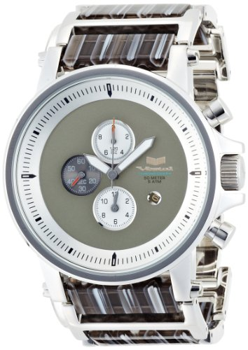 Vestal Unisex PLA012 Plexi Acetate Silver and Gray Watch