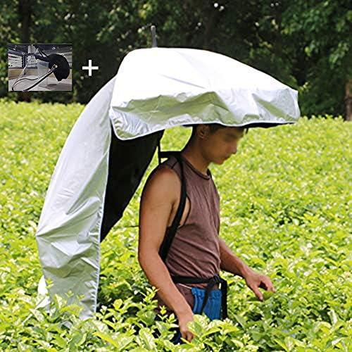 折りたたみ かぶる傘 背負う傘 釣り ガーデニング 農作業かさ 背中に装着 両手解放 便利グッズ 日差しカット UVカット 日よけ 屋外作業 屋外イベント 紫外線対策 釣り傘