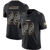 NBJBK Camiseta NFL Rugby Jersey, Eagle Steel Man Cowboy Raiders Saints Black Gold Jersey Jersey Football Jersey Manga Corta Top Deportivo