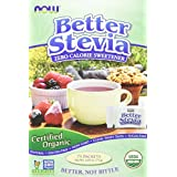 NOW Foods Organic BetterStevia,75 Packets