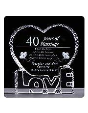 YWHL Love Crystal Wedding for Her Wife Girlfriend Him Husband