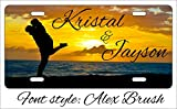 Personalized Custom Couple Embracing by the Ocean License Plate Metal US Seller