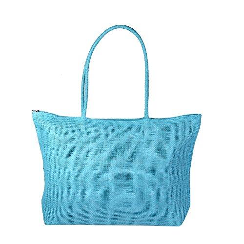 Beach Shoulder Weave Beach Tote Women Straw Shoulder Blue Straw Crossbody Shoulder Straw Women Handbag Beach Black Zerodis Bag Candy Bag Color Shoulder Bag Bag Simple qx8tfwP6