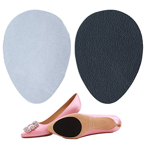 12 Pairs Anti-slip Shoe Grips, Non-slip High-heeled Shoes Sole Protector Pads Sticker, Self-adhesive, Black