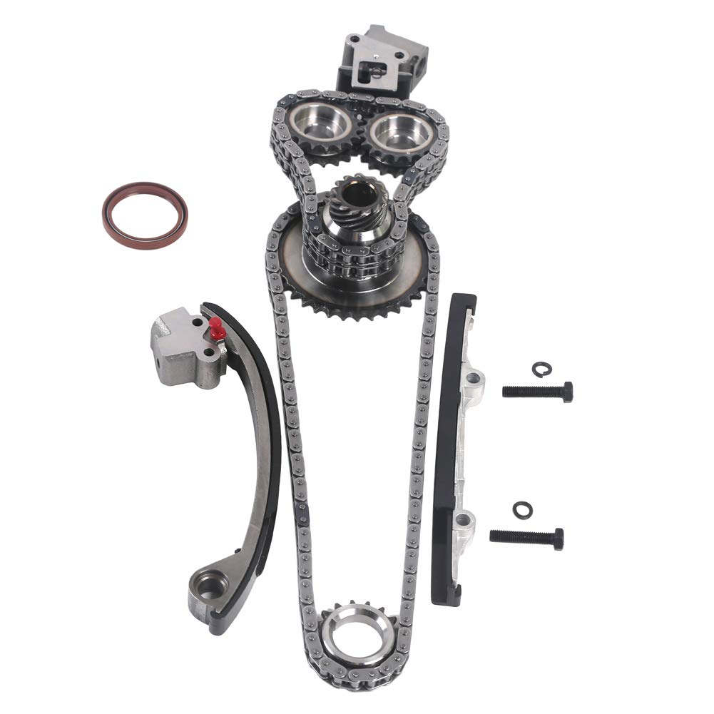 MOCA New Timing Chain Kit /& Water Oil Pump for 1991-1998 Nissan 240SX 2.4L L4 16V DOHC KA24DE