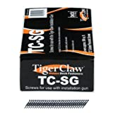 Tiger Claw Pneumatic Scrails (Nail - Screws) - 930 pcs - Coated Carbon Steel - For Use With the TigerClaw Gun - 500 Sq. Ft.