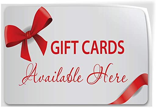 Decal Sticker Gift Cards Available Here Business Business Outdoor Store Sign-36inx24in
