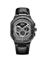 JBW Men's J6342D Orion 0.12 Carat Black Ion-Plated Stainless Steel Diamond Watch
